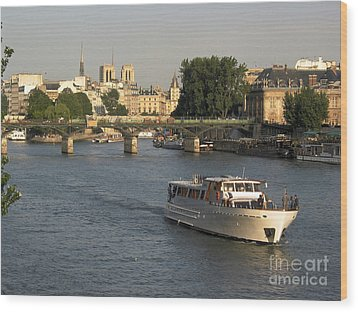 River Seine In Paris Wood Print by Bernard Jaubert