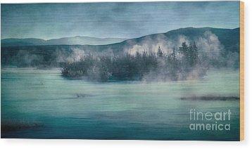 River Song Wood Print by Priska Wettstein