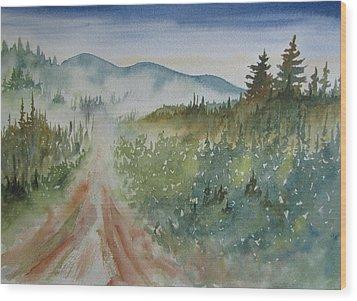 Road Through The Hills Wood Print by Ramona Kraemer-Dobson