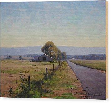 Road To Richmond Wood Print by Graham Gercken