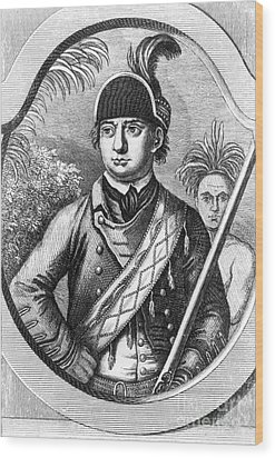 Robert Rogers, Colonial American Wood Print by Photo Researchers