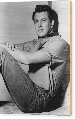 Rock Hudson, C. Mid 1950s Wood Print by Everett