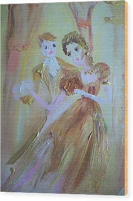 Romantic Encounter Wood Print by Judith Desrosiers