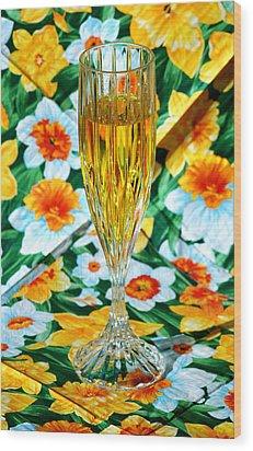 Romantic Gold Wood Print by LeeAnn McLaneGoetz McLaneGoetzStudioLLCcom