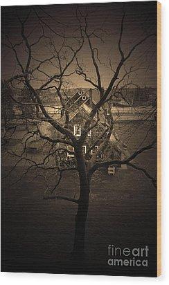 Rosabelle Believe Wood Print by C E Dyer