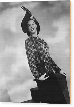 Rosalind Russell, Ca. Early 1940s Wood Print by Everett
