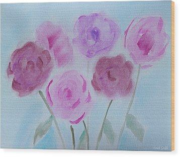 Roses Wood Print by Heidi Smith