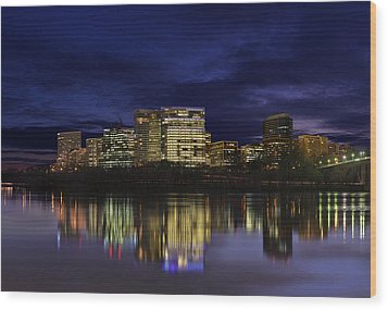 Rosslyn Skyline Wood Print by Metro DC Photography