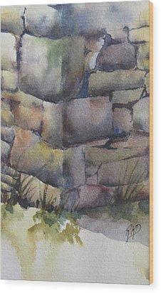 Ruins Wood Print by Ramona Kraemer-Dobson