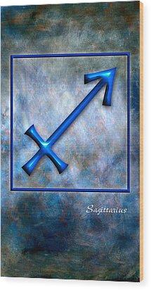 Sagittarius  Wood Print by Mauro Celotti
