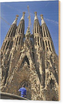 Sagrada Familia Barcelona Spain Wood Print by Matthias Hauser