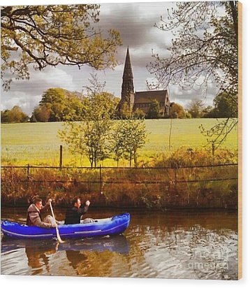 Sail Away Wood Print by Isabella Abbie Shores