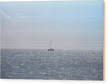 Sailing On Wood Print by Bill Cannon