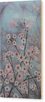 Sakura Wood Print by Yulia Litvinova