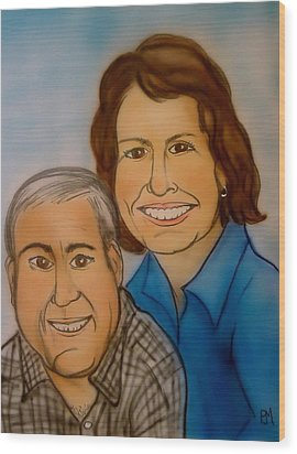 Sally And Art Wood Print by Pete Maier
