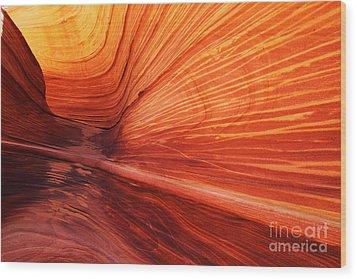 Sandstone Wave  Wood Print by Dennis Hedberg