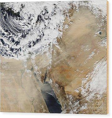 Satellite View Of The Eastern Wood Print by Stocktrek Images