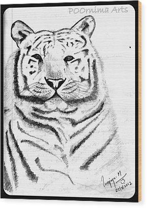 Save Tigers Wood Print by Poornima M