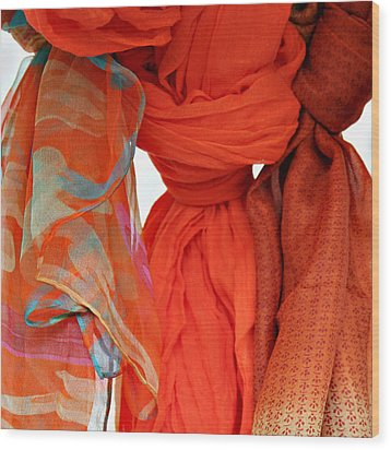 Scarves Wood Print by Tony Grider
