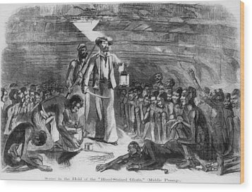 Scene In The Hold Of The Blood-stained Wood Print by Everett