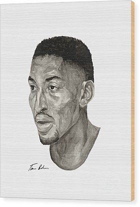 Scottie Pippen Wood Print by Tamir Barkan