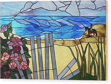 Sea Roses - Rosa Rugosa Wood Print by Jane Croteau