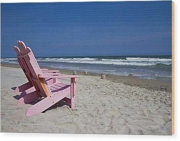 Seas The Chair  Wood Print by Betsy Knapp
