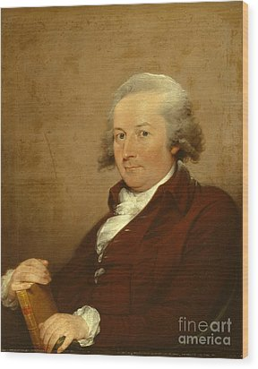Self-portrait Wood Print by John Trumbull