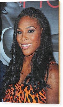 Serena Williams At Arrivals Wood Print by Everett