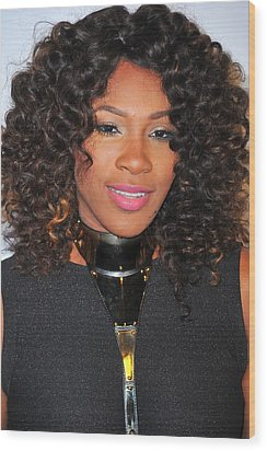 Serena Williams At Arrivals For Keep Wood Print by Everett