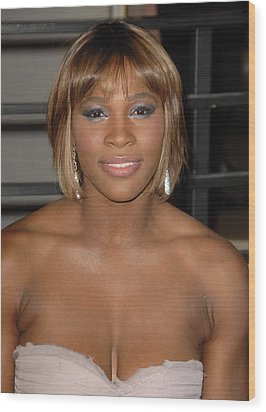 Serena Williams At Arrivals For Vanity Wood Print by Everett