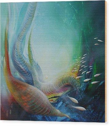 Serpula Spiralis Wood Print by Drazen Pavlovic