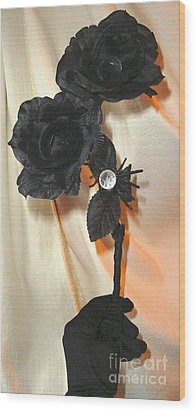 She Comes In Light Wood Print by Jozy Me
