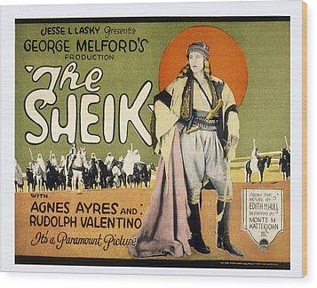 Sheik, Rudolph Valentino, 1921 Wood Print by Everett