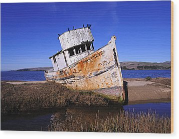 Shipwrecked In Inverness Wood Print by Richard Leon