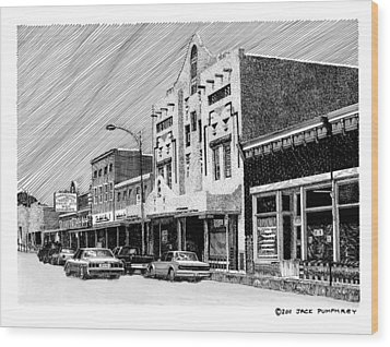 Silver City New Mexico Wood Print by Jack Pumphrey