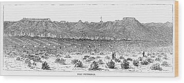 Sioux War: Fort Fetterman Wood Print by Granger