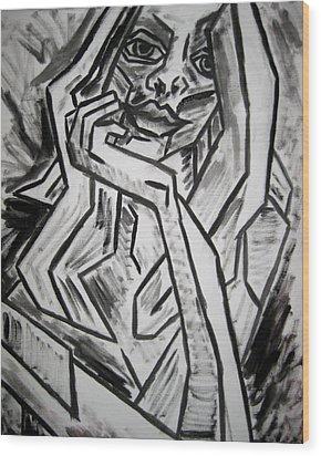 Sketch - Intrigued Wood Print by Kamil Swiatek