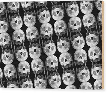 Skull Scope 5 Wood Print by Adam Vance