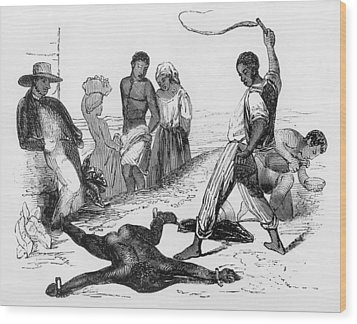 Slave Punishment In The French West Wood Print by Everett
