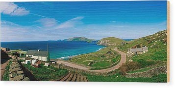 Slea Head & Blasket Islands, Dingle Wood Print by The Irish Image Collection