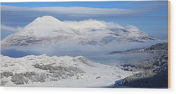 Snow Covered Landscape In Winter Near Wood Print by Peter Zoeller