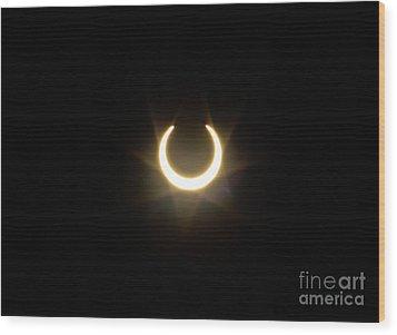 Solar Eclipse 5 Wood Print by Mitch Shindelbower