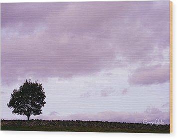 Solitude - Denbigh Moors Wood Print by Georgia Fowler