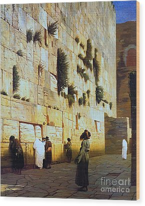 Solomon's Wall  Jerusalem Wood Print by Pg Reproductions