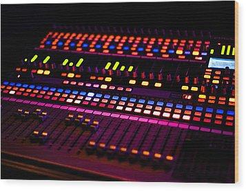 Soundboard Wood Print by Anthony Citro