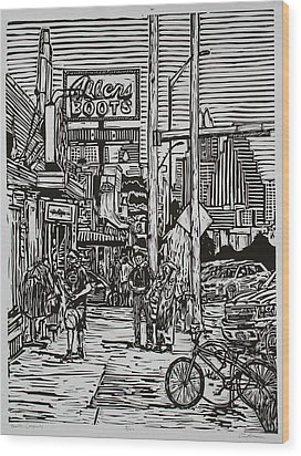 South Congress Wood Print by William Cauthern