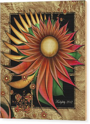 Southwest Sunrise Wood Print by Karla White