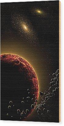 Space010 Wood Print by Svetlana Sewell