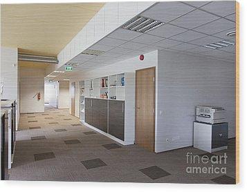 Spacious Office Hallway Wood Print by Jaak Nilson